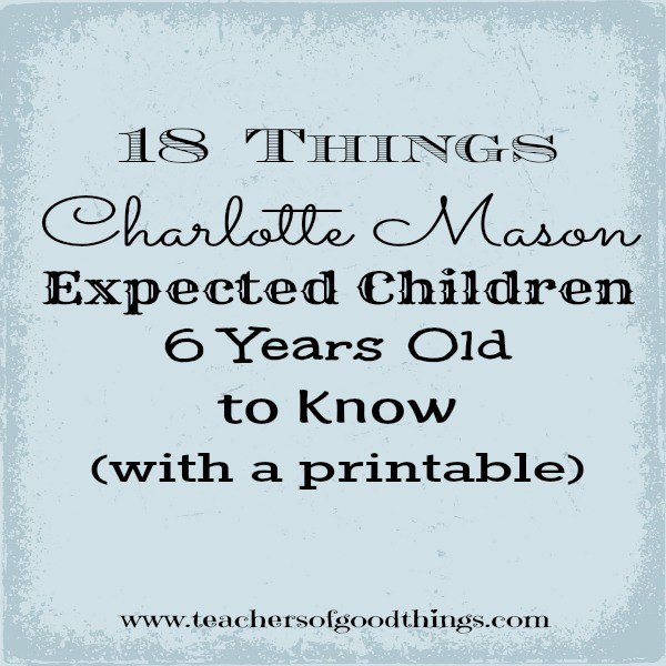 Use this checklist to prepare your preschooler or kindergartener for a Charlotte Mason education.
