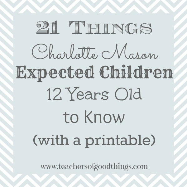 Use this checklist to be sure you are covering all the aspects of your child's Charlotte Mason education.