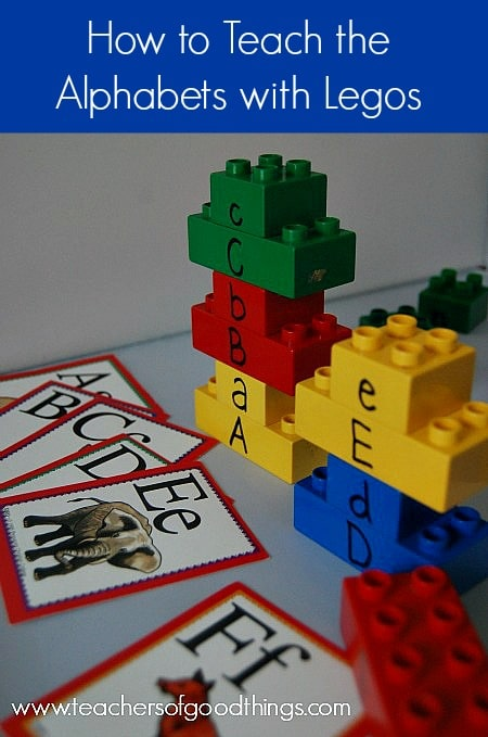 How to Teach the Alphabet with Legos | www.teachersofgoodthings.com