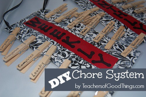DIY Chore System, easy to make and fun to use! www.teachersofgoodthings.com