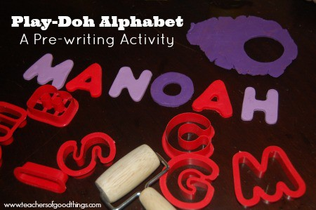 Play-Doh Alphabet: A Pre-Writing Activity www.teachersofgoodthings.com