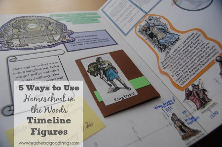 5 Ways to Use Homeschool in the Woods Timeline Figures www.teachersofgoodthings.com