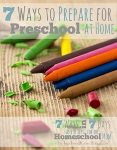 7 Ways to Prepare for Preschool at Home www.teachersofgoodthings.com