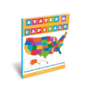 States and Capitals: Printable Cards for Interactive Learning | www.teachersofgoodthings.com