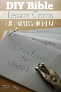 DIY Bible Lesson Cards for Learning on the Go | www.teachersofgoodthings.com