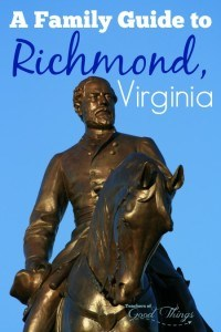 A Family Guide to Richmond Virginia - The beautiful, history filled city of Richmond has so many opportunities for adventure. | www.teachersofgoodthings.com