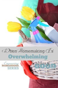 When Homemaking Is Overwhelming - Empowering Womanhood Series: Real | Meaningful | Life-changing | www.teachersofgoodthings.com