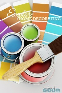 Explore Home Decorating - Part of the 31 Days of Exploring Free Afternoon Activities | www.teachersofgoodthings.com