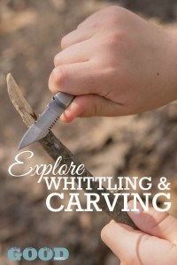 Explore Whittling & Carving - Part of the 31 Days of Exploring Free Afternoon Activities | www.teachersofgoodthings.com