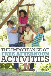 The Importance of Free Afternoon Activities - Part of the 31 Days of Exploring Free AFternoon Activities | www.teachersofgoodthings.com