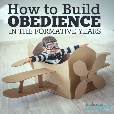 How to Build Obedience in the Formative Years - These tips will show you how to build obedience in your toddlers and preschoolers. | www.teachersofgoodthings.com